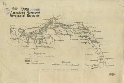 старинная карта адыгеи